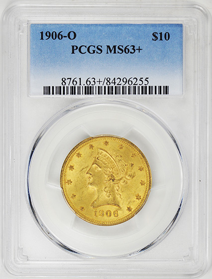 Picture of 1906-O LIBERTY HEAD $10 MS63+
