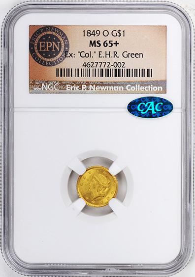 Picture of 1849-O GOLD G$1, TYPE 1 MS65+