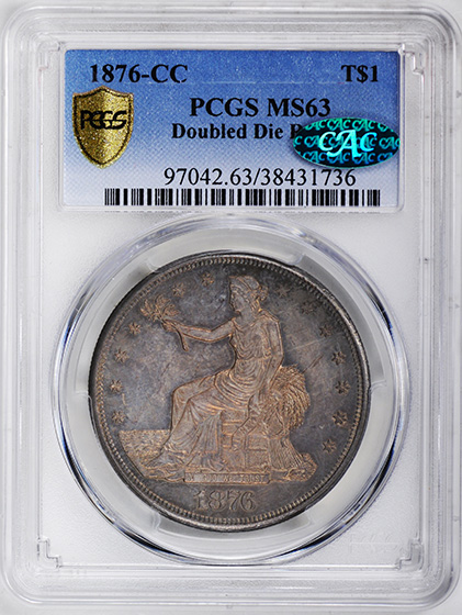 Picture of 1876-CC TRADE T$1 MS63