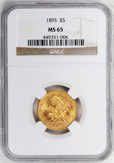 Picture of 1895 LIBERTY $5 MS65