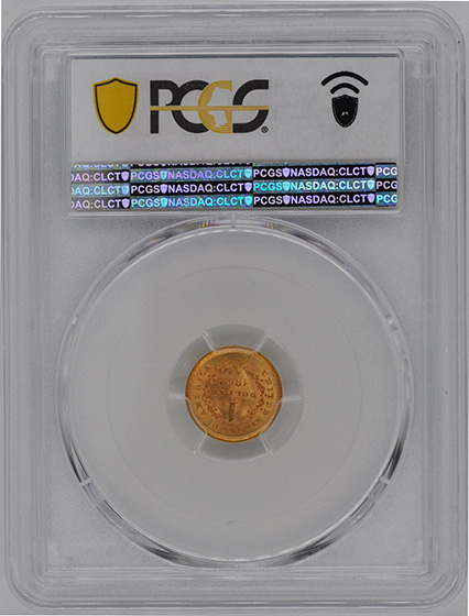 Picture of 1852 GOLD G$1, TYPE 1 MS66