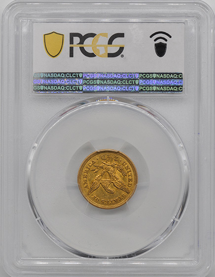 Picture of 1857-O LIBERTY HEAD $2.5 MS61