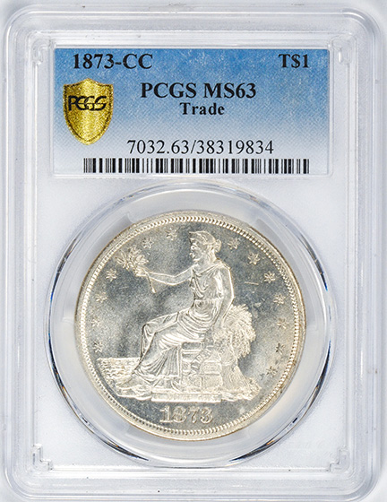 Picture of 1873-CC TRADE T$1 MS63