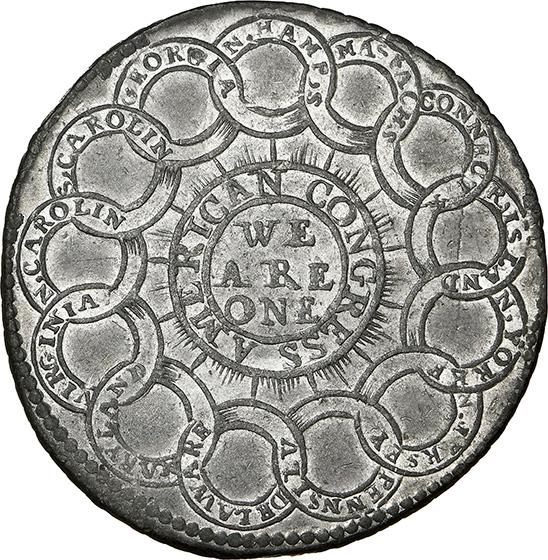 Picture of 1776 EG FECIT, PEWTER $1 MS63