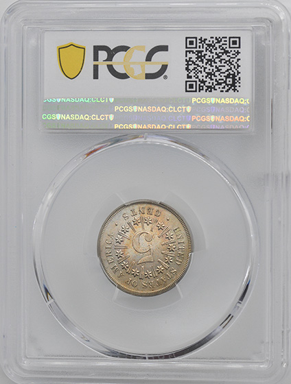 Picture of 1867 SHIELD 5C, RAYS PR65 Cameo