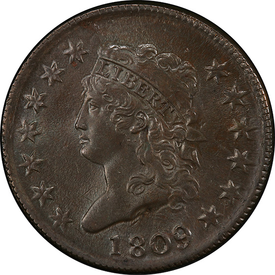 Picture of 1809 CLASSIC HEAD 1C MS64 Brown