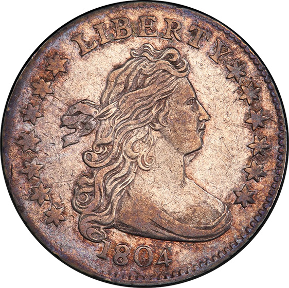Picture of 1804 DRAPED BUST 10C, 13 STARS REVERSE XF45