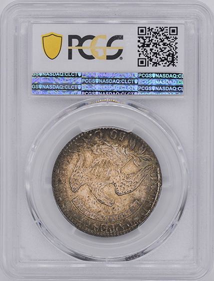 Picture of 1827 CAPPED BUST 50C, CURL BASE 2 MS65