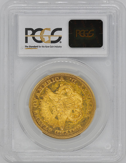 Picture of 1852-O LIBERTY HEAD $20 AU58