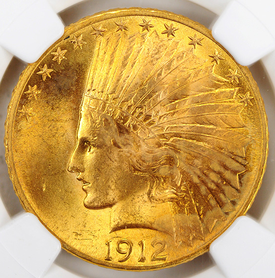 Picture of 1912 INDIAN $10 MS65