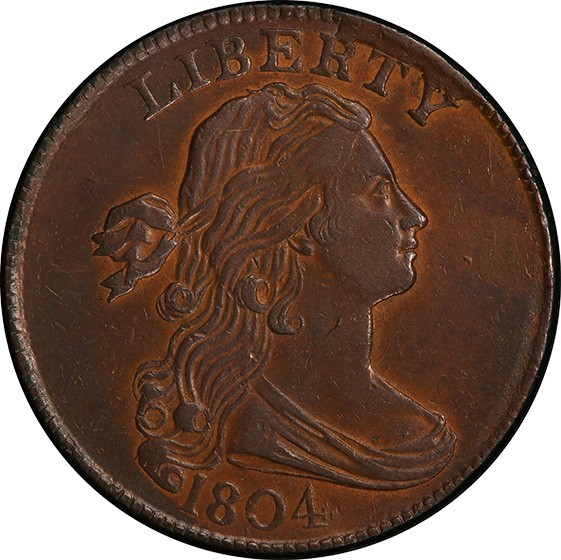 Picture of 1804 DRAPED BUST 1C AU55 Brown