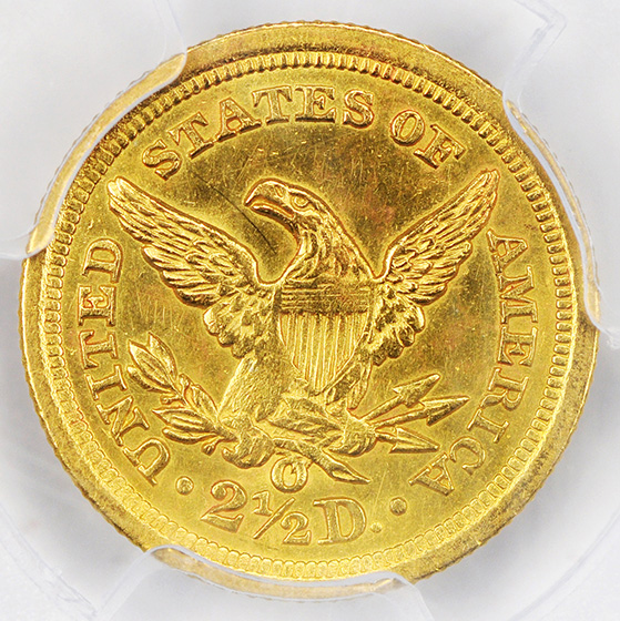 Picture of 1846-O LIBERTY HEAD $2.5 MS61
