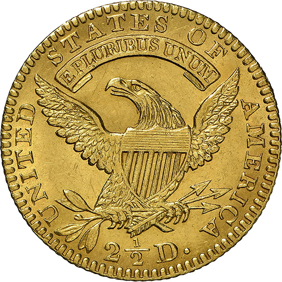 Picture of 1827 CAPPED BUST $2.5 MS62+