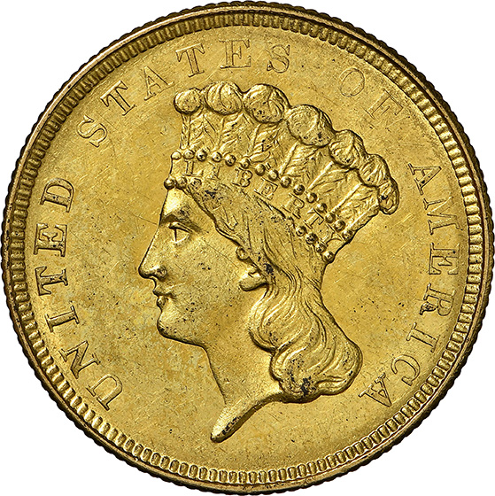 Picture of 1854-O INDIAN PRINCESS $3 MS62