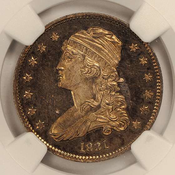 Picture of 1831 CAPPED BUST 25C, LARGE LETTERS PR65