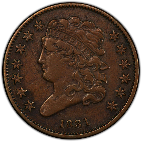 Picture of 1831 CLASSIC HEAD 1/2C XF45 Brown