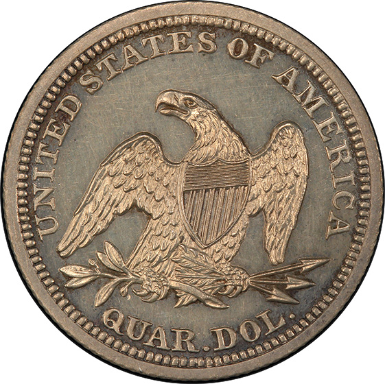 Picture of 1843 LIBERTY SEATED 25C PR64