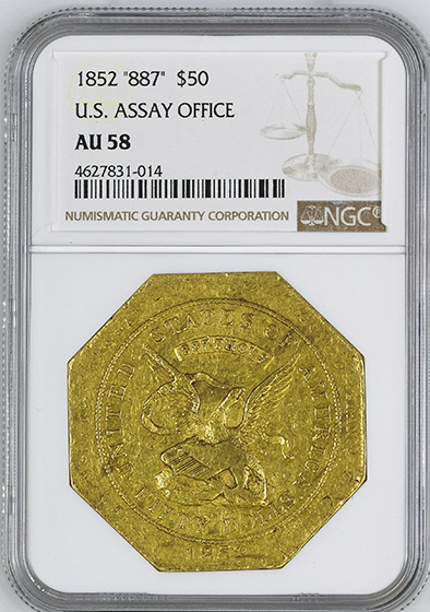 Picture of 1852 887 ASSAY $50 AU58