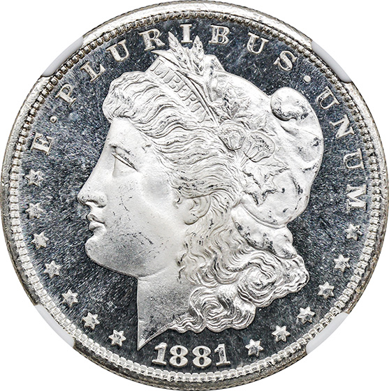 Picture of 1881-S MORGAN S$1 MS68 Proof Like