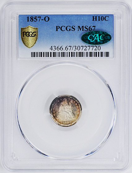 Picture of 1857-O LIBERTY SEATED H10C MS67