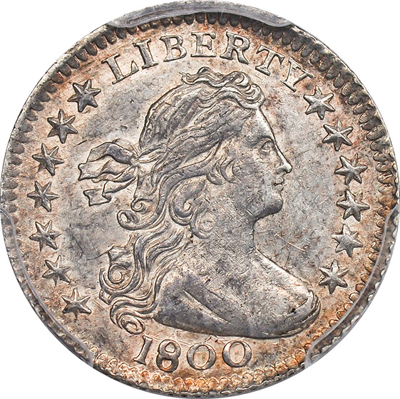 Picture of 1800 DRAPED BUST H10C MS62