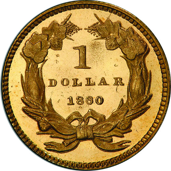 Picture of 1860 GOLD G$1, TYPE 3 PR65 Cameo