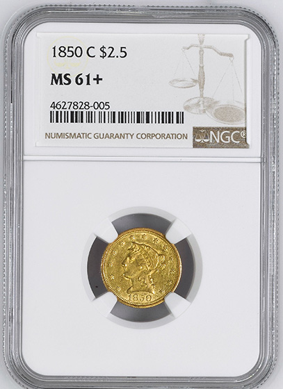 Picture of 1850-C LIBERTY $2.5 MS61+