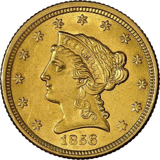 Picture of 1856-O LIBERTY HEAD $2.5 MS62