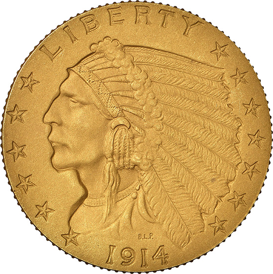 Picture of 1914 INDIAN $2.5 PR66