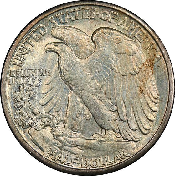 Picture of 1918-S WALKING LIBERTY 50C MS65+