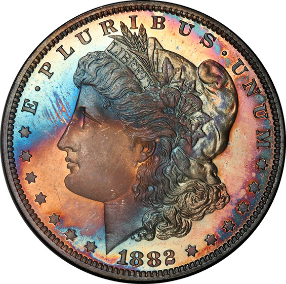 Picture of 1882 MORGAN S$1 PR68