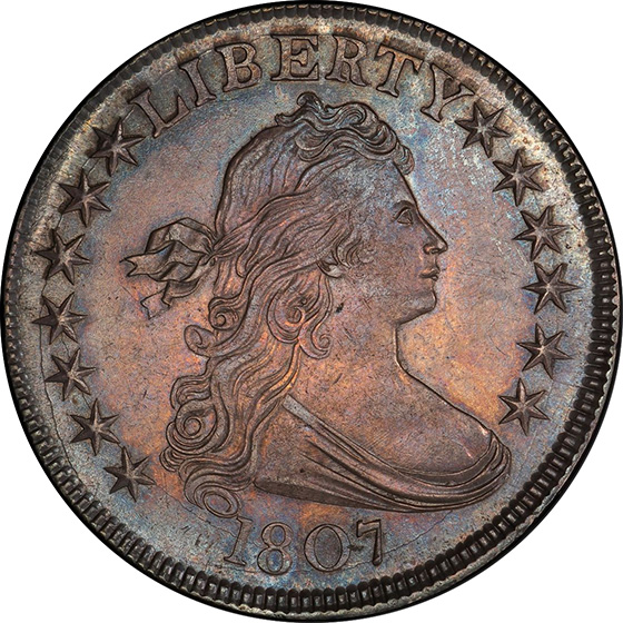 Picture of 1807 DRAPED BUST 50C, DRAPED BUST MS64