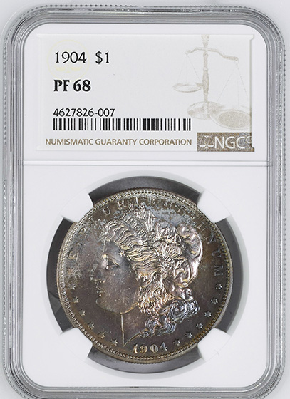 Picture of 1904 MORGAN S$1 PR68