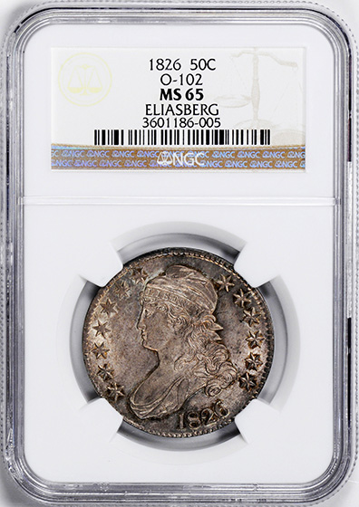 Picture of 1826 CAPPED BUST 50C MS65