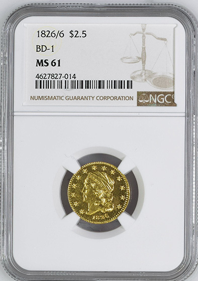 Picture of 1826/6 CAPPED BUST $2.5 MS61