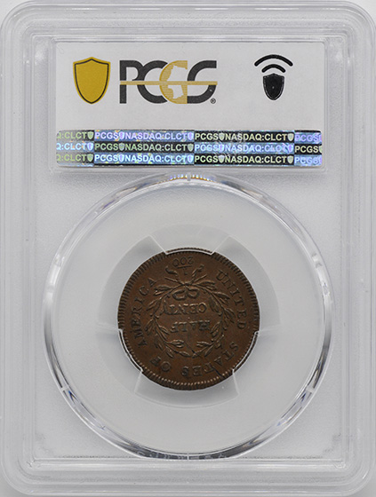 Picture of 1795 LIBERTY CAP 1/2, LE PUNCTUATED DATE MS61 Brown