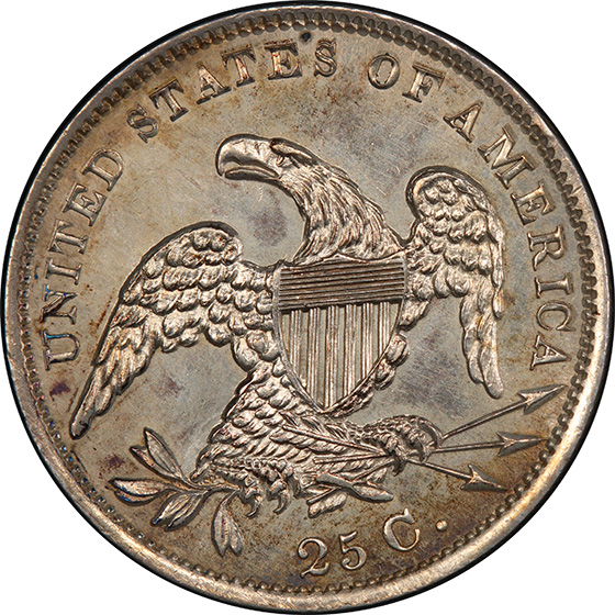 Picture of 1831 CAPPED BUST 25C, LARGE LETTERS PR64