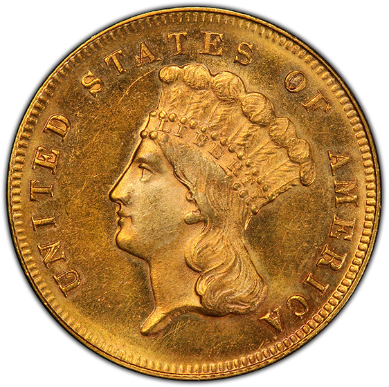 Picture of 1870 INDIAN PRINCESS $3 MS64