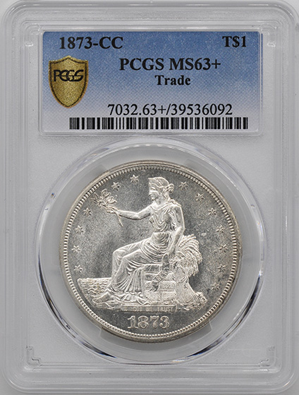 Picture of 1873-CC TRADE T$1 MS63+