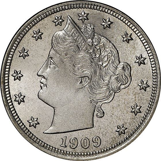 Picture of 1909 LIBERTY 5C PR68