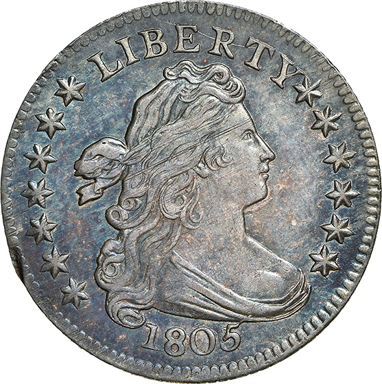 Picture of 1805 DRAPED BUST 10C, 4 BERRIES MS65