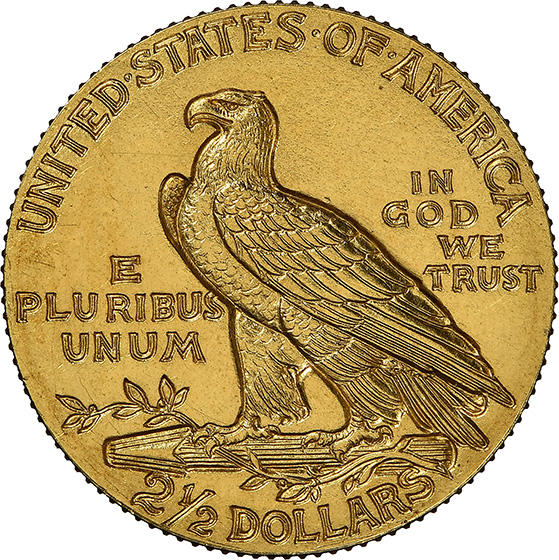 Picture of 1909 INDIAN $2.5 PR66