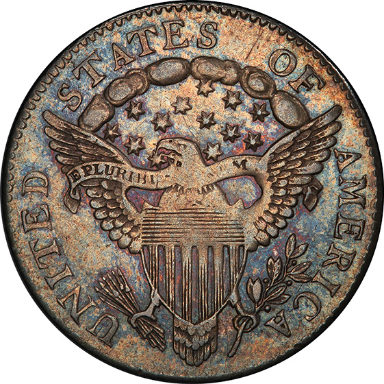 Picture of 1798/97 DRAPED BUST 10C, 13 STARS REVERSE 3462