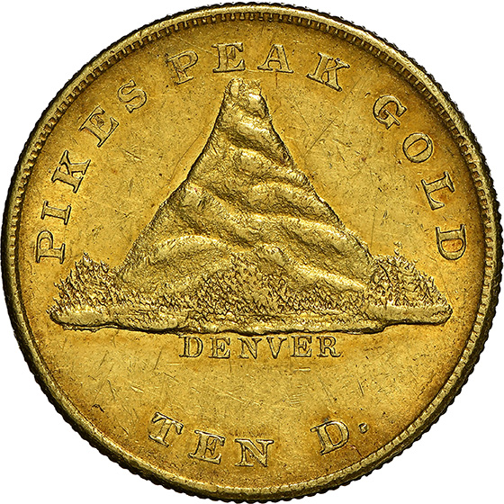 Picture of 1860 CLARK GR $10 MS62