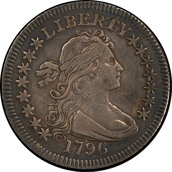 Picture of 1796 DRAPED BUST 25C, SMALL EAGLE XF40