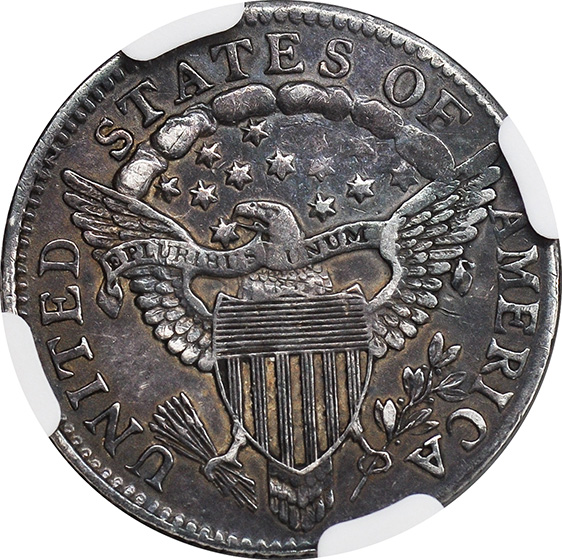 Picture of 1804 DRAPED BUST 10C, 13 STARS REVERSE AU53