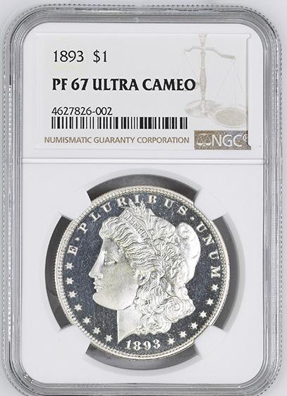 Picture of 1893 MORGAN S$1 PR67 Deep Cameo