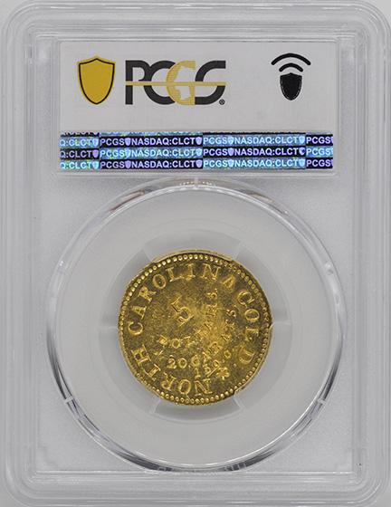 Picture of C BECHTLER $5, 150 GRAINS, 20 CARAT MS61