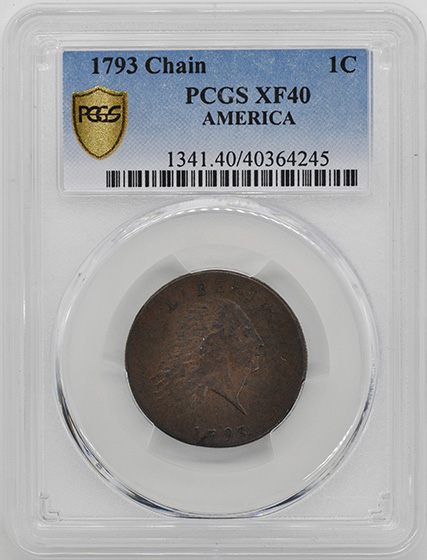 Picture of 1793 CHAIN 1C, AMERICA XF40