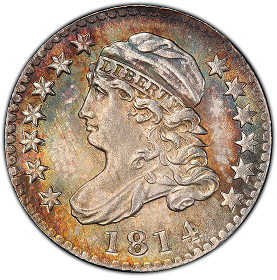 Picture of 1814 CAPPED BUST 10C, LARGE DATE MS66